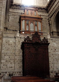 Catedral de Valladolid, órgano Amezua de 1904 (foto Wikipedia)