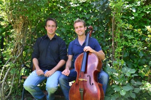 Ángel Montero Herrero, organista y Juan Mateo Revilla, violonchelista