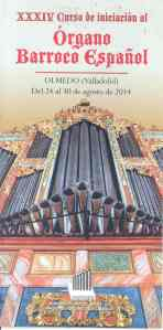 Curso de Iniciación al órgano barroco Olmedo 2014