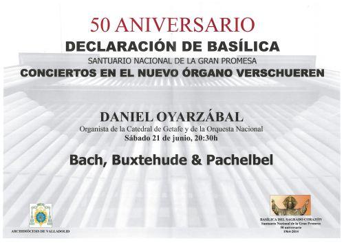 Cartel Concierto de órgano Santuario Valladolid