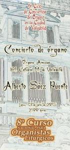 Alberto Sáez Puente inauguración del 8º Curso para Organistas Litúrgicos
