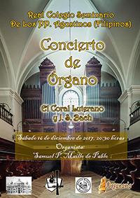 El coral luterano, concierto de órgano, 16 de diciembre 2017