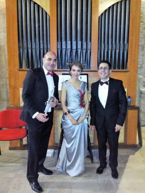 Jesús Núñez, trompeta, Sonia Santoyo, soprano, Jorge Colino, órgano
