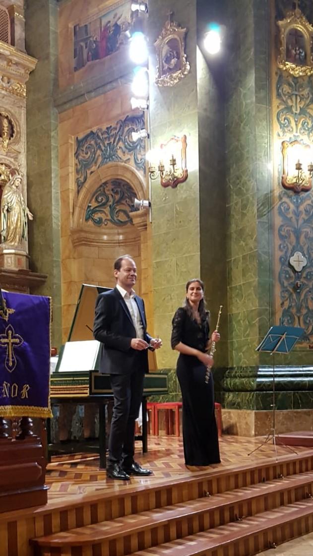 Marta Femenia, faluta y Diego Crespo, órgano