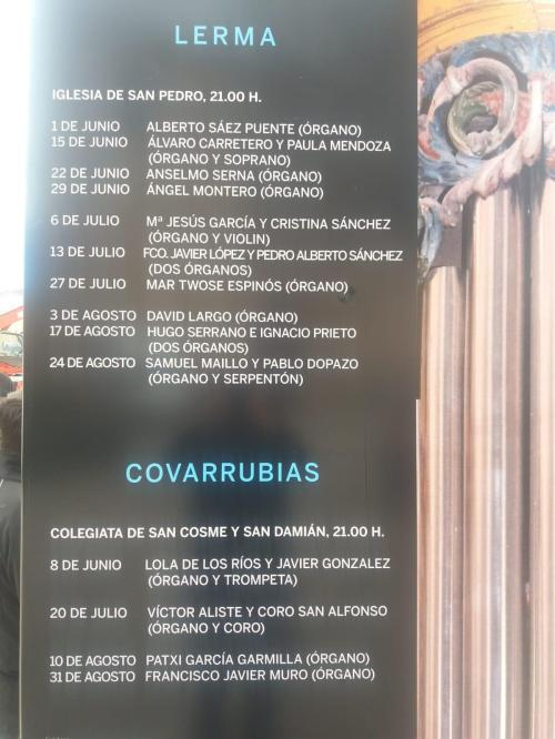 Concirtos de órgano Lerma y Covarrubias 2018