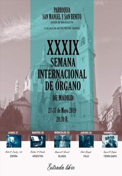 CONCIERTOS ÓRGANO OOMADRID  27 31 MAYO 2019