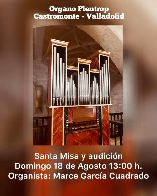 Castromonte (Valladolid) misa acompañada por órgano 18 de agosto de 2019