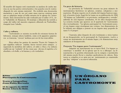 Castromonte (Valladolid) Órgano