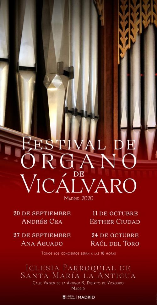 Festival de Órgano Vicálvaro (Madrid) 2020 septiembre/octubre