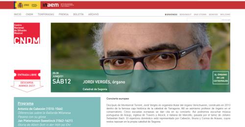 JOrdi Vergés, concierto de órgano, Catedral de Segovia