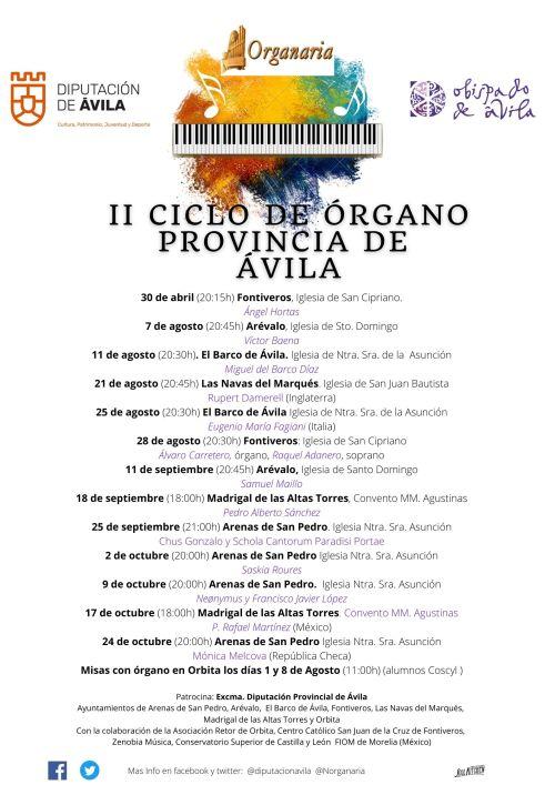 II Ciclo de órgano provincia de Ávila (2021)