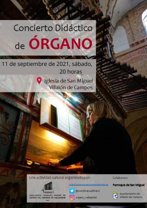 Concierto didáctico de órgano - Villalón de Campos (Valladolid)