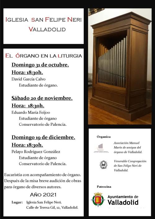 El órgano en la liturgia - 2021, Iglesia de San Felipe Neri de Valladolid